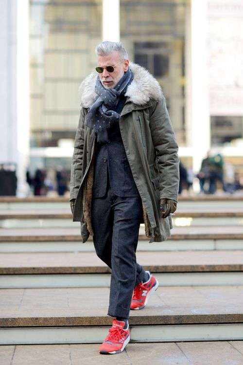 Look invernale con New Balance