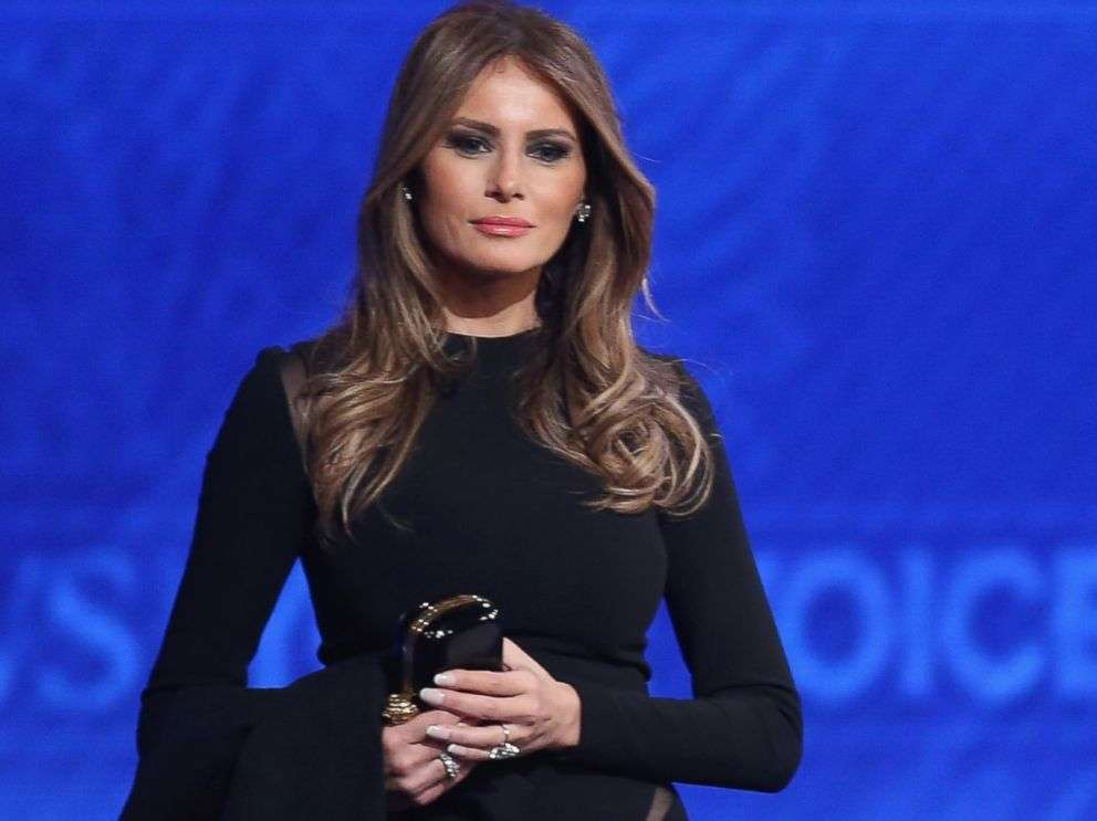 Melania Trump in total black