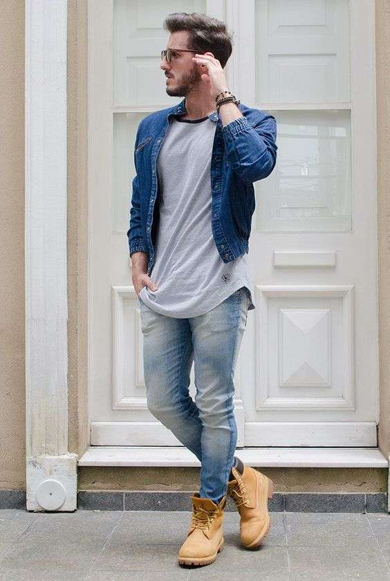 Denim look e Timberland