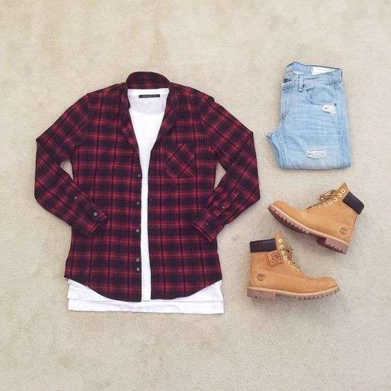 Rustic look con Timberland
