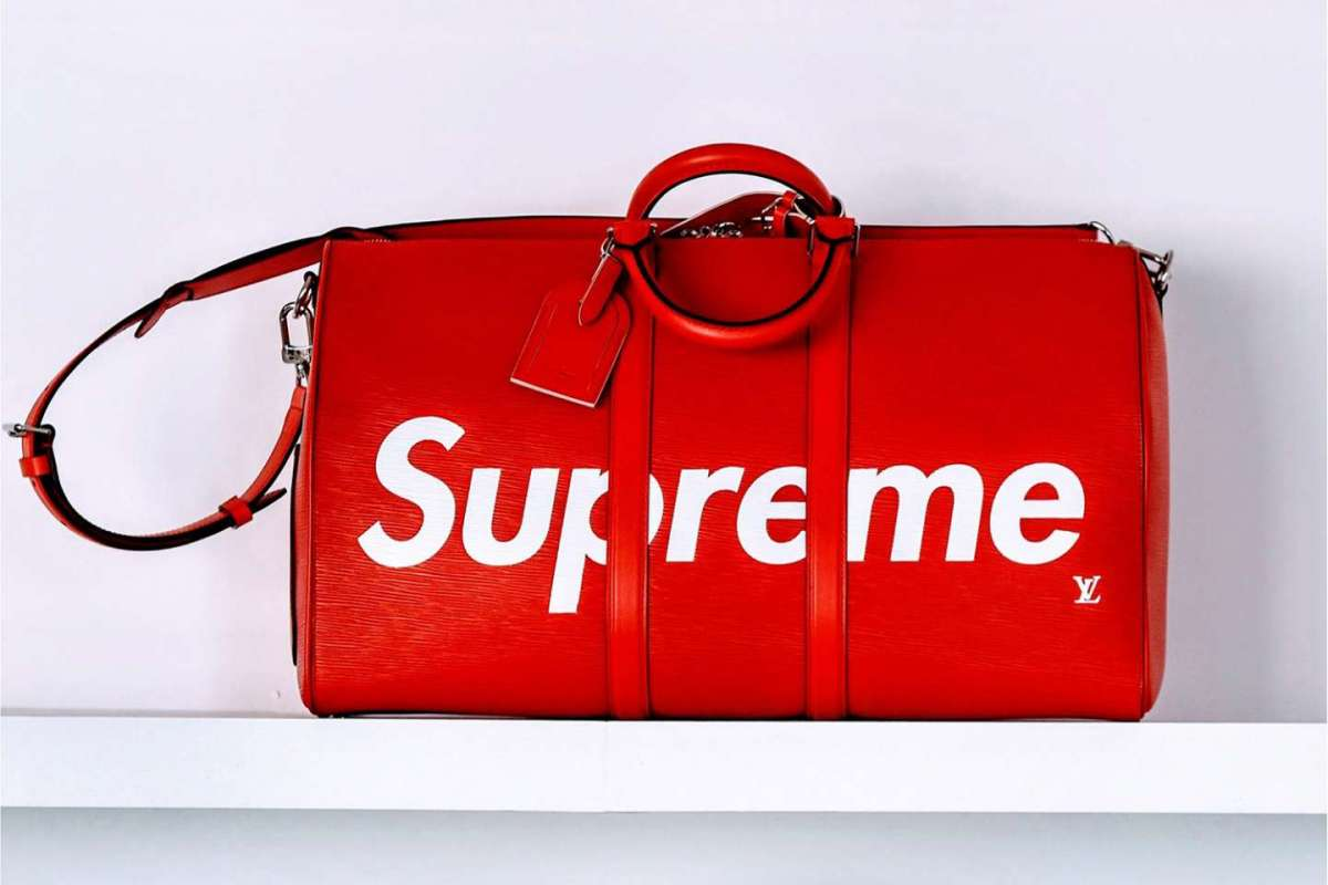 Weekend bag Louis Vuitton x Supreme