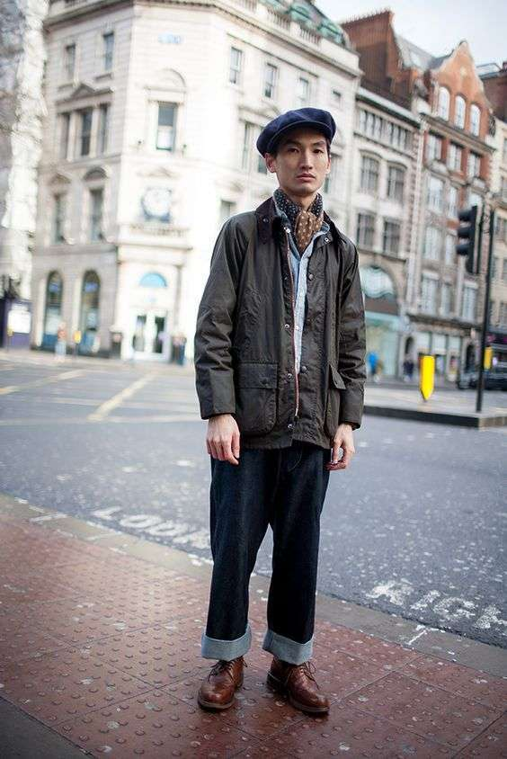 Street look con Barbour