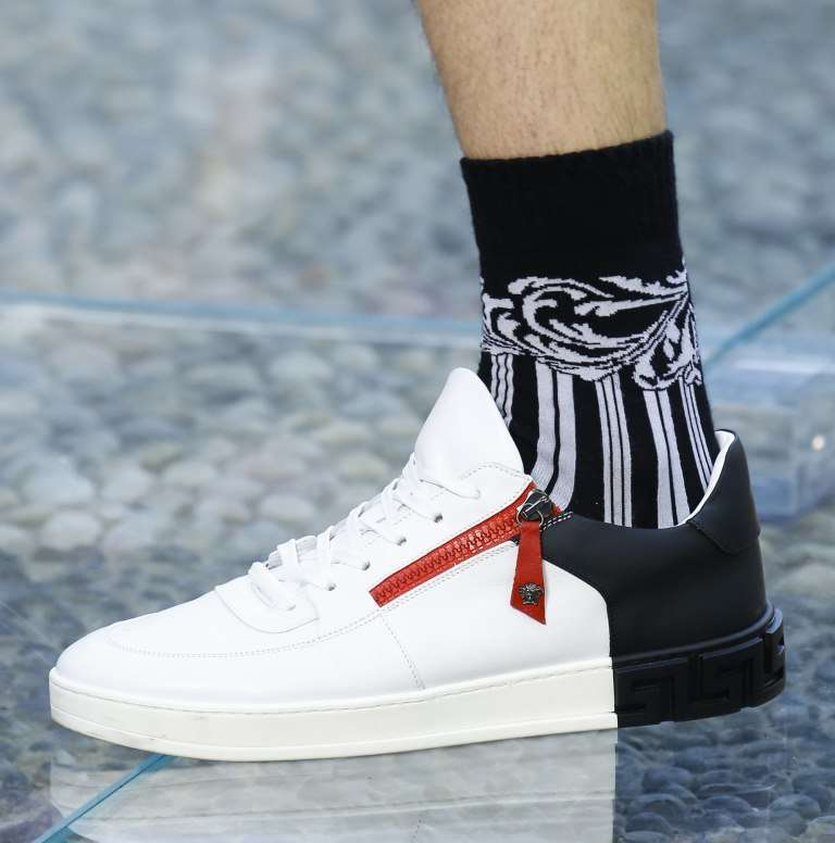 Sneakers zip Versace