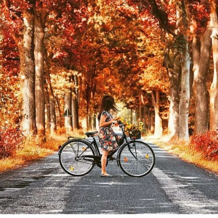 In bici in autunno