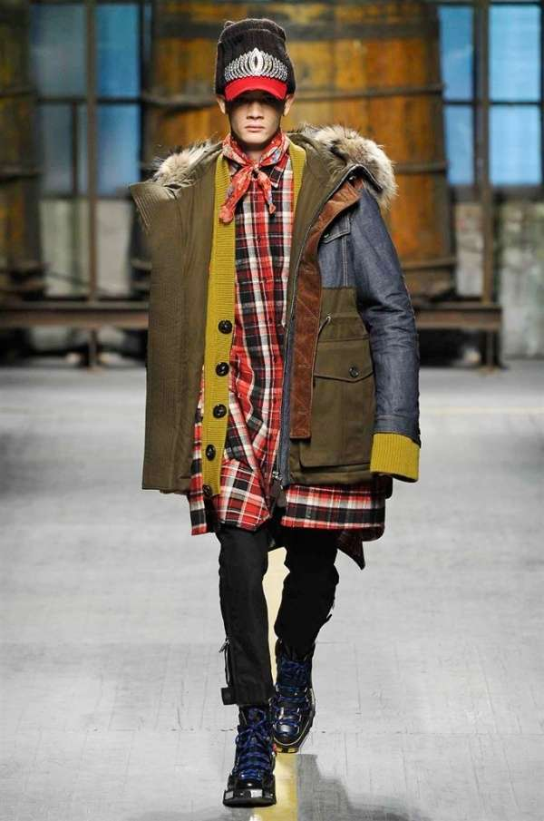 Parka con denim Dsquared2