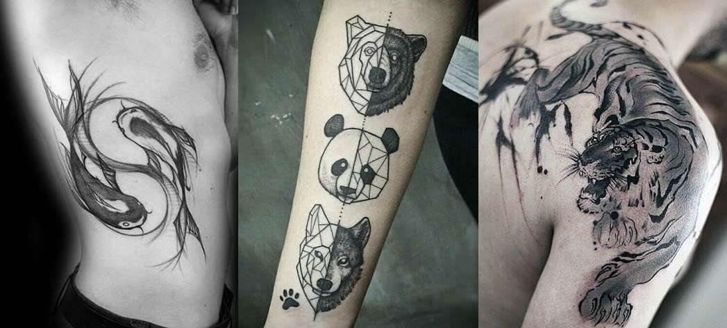 Tattoo con animali per uomo
