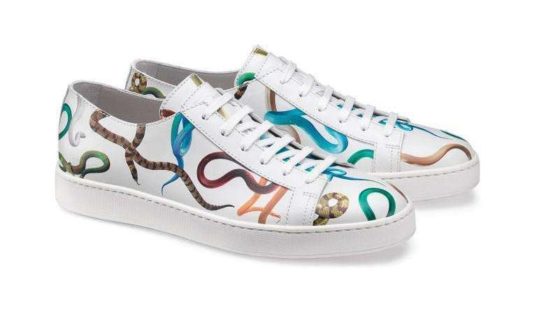 Santoni sneakers con serpenti