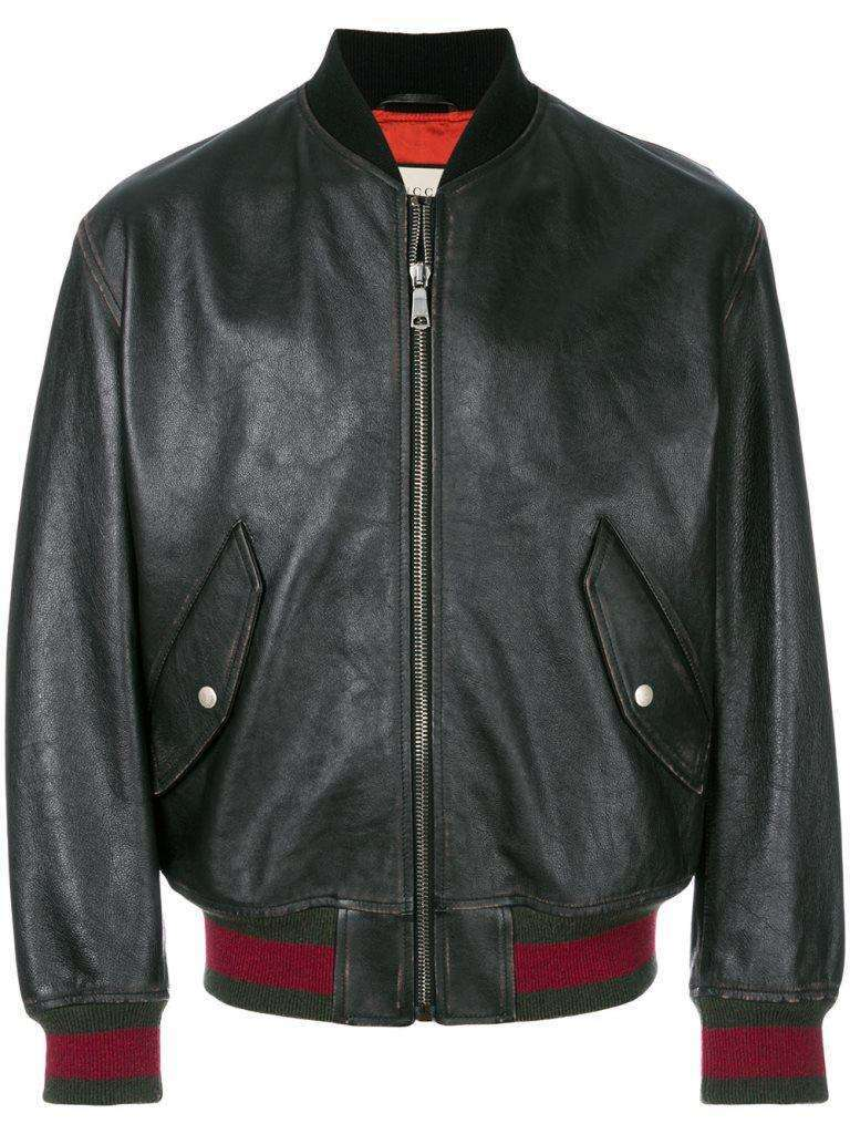 Bomber in pelle Gucci