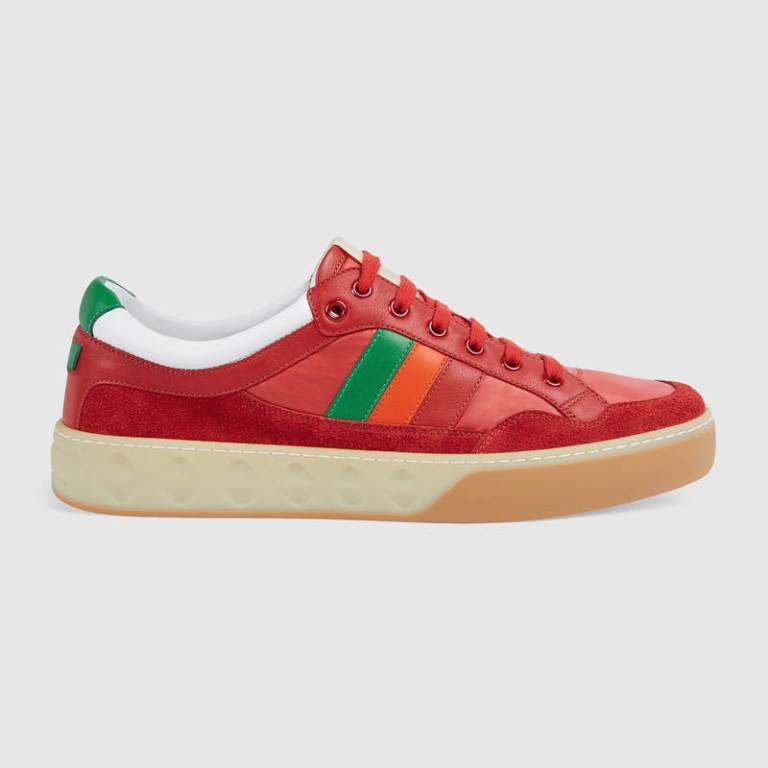 Sneakers rosse Gucci
