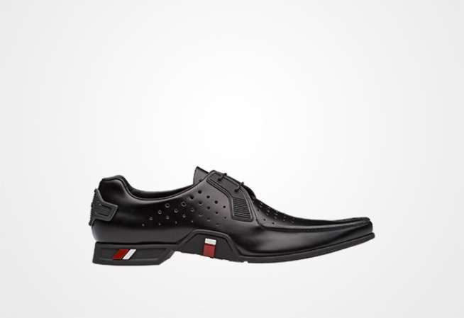 Prada derby in pelle