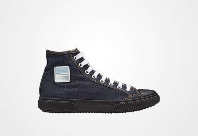 Sneakers in denim Prada