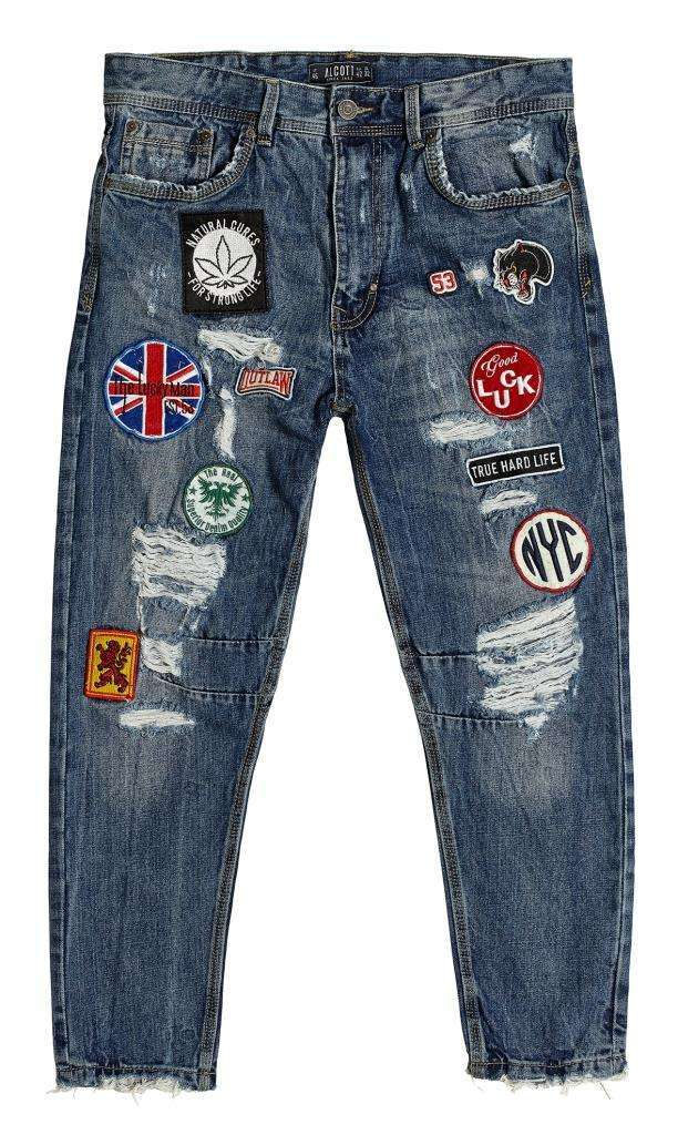 Jeans con patch Alcott