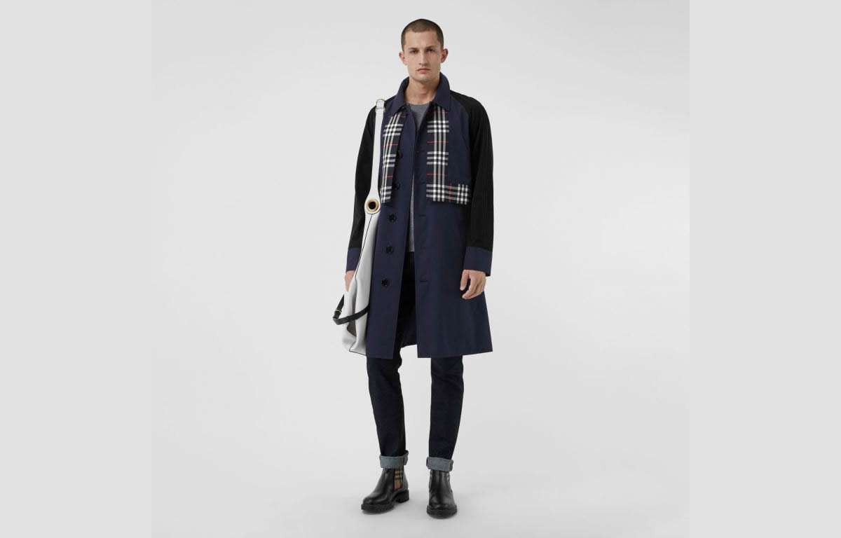Burberry trench check