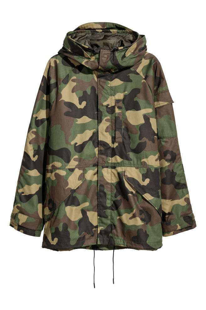 Parka camouflage H&M