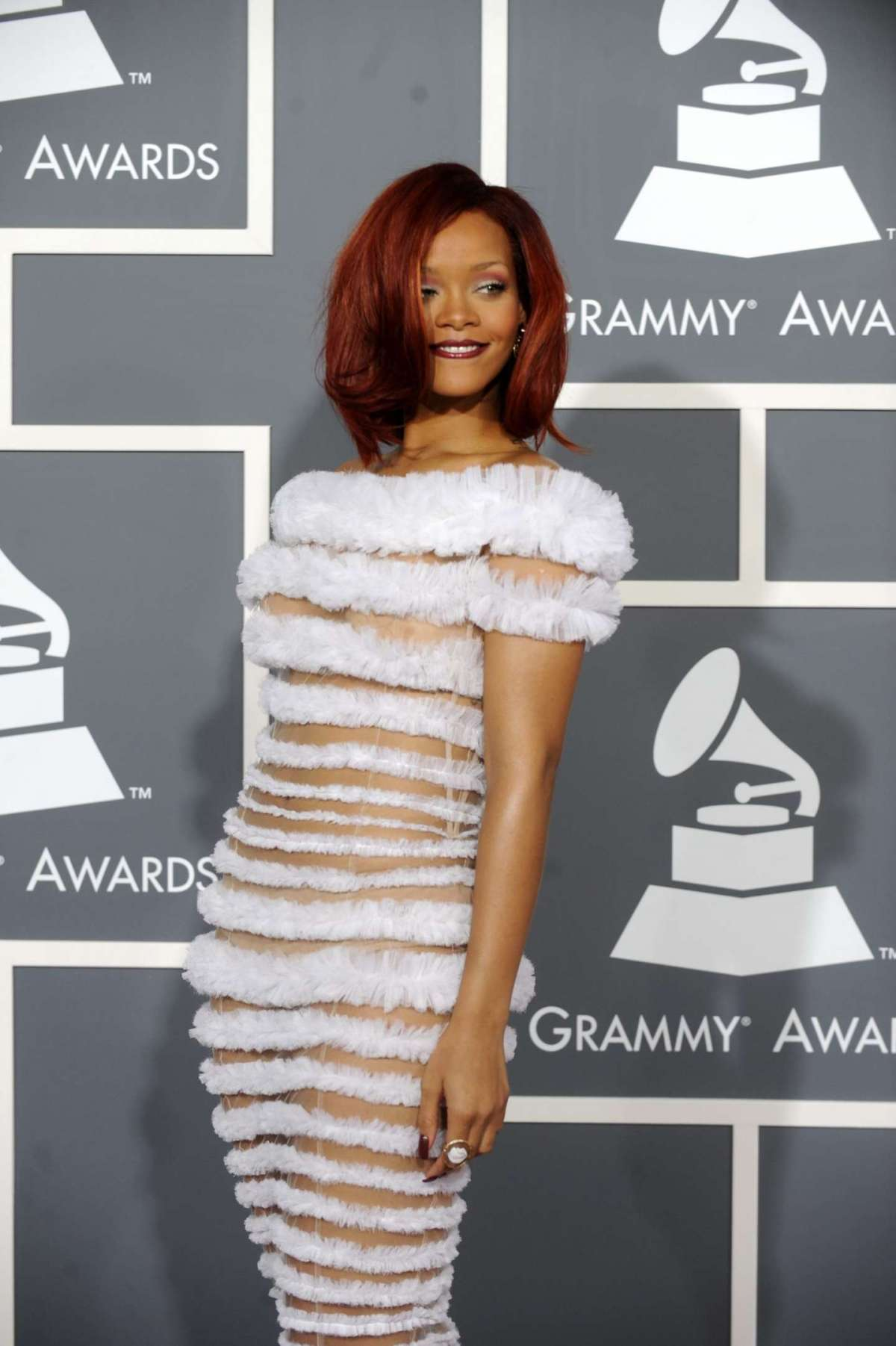 Barbadian singer Rihanna arrives for the 53rd Annual GRAMMY Awards at Staples Center in Los Angeles, California, USA 13 February 2011