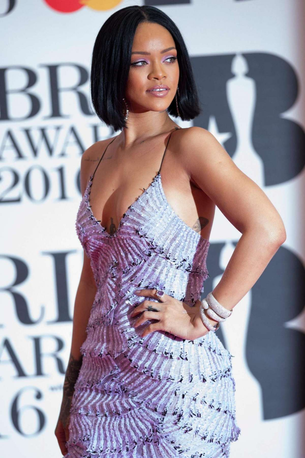 arrives on the red carpet for the 2016 Brit Awards at the O2 Arena in Greenwich, London, Britain, 24 February 2016
