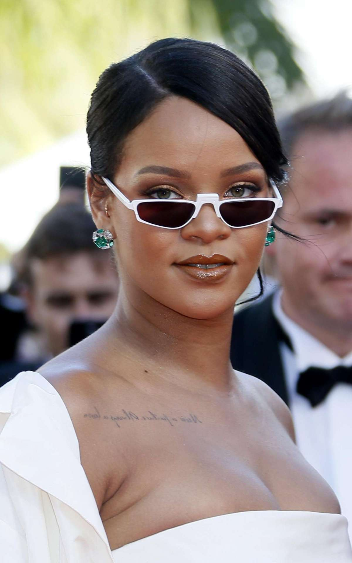 Barbadian singer Rihanna arrives for the premiere of Okja during the 70th annual Cannes Film Festival, in Cannes, France, 19 May 2017