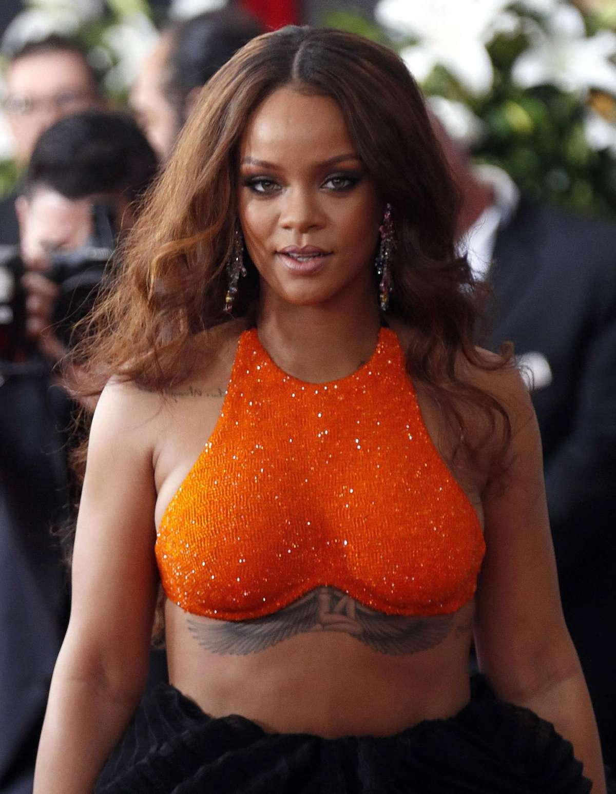 Rihanna arrives for the 59th annual Grammy Awards ceremony at the Staples Center in Los Angeles, California, USA, 12 February 2017