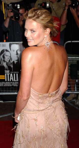 Charlize Theron alla premiere di The Italian Job
