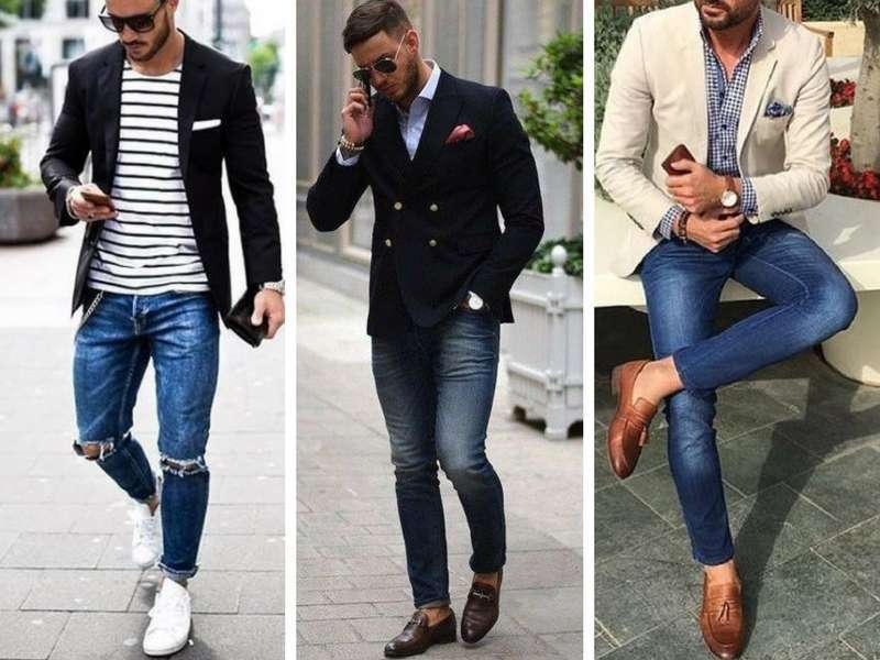 giacca jeans uomo con jeans